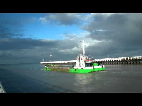 Barge de dragage marine - sea dredging barge split hopper  -