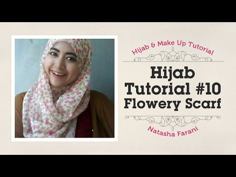 Hijab Tutorial Flowery Scarf - Natasha Farani #10