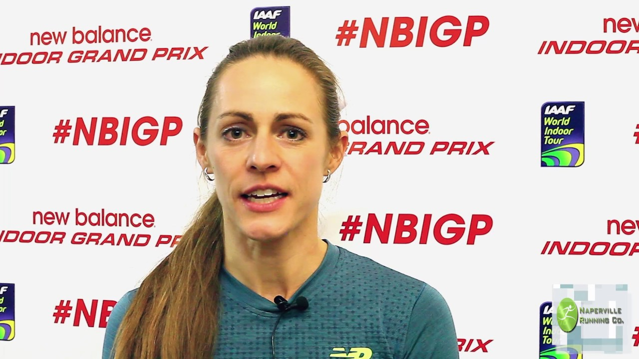 Jenny Simpson Interview at 2017 New Balance Indoor Grand Prix