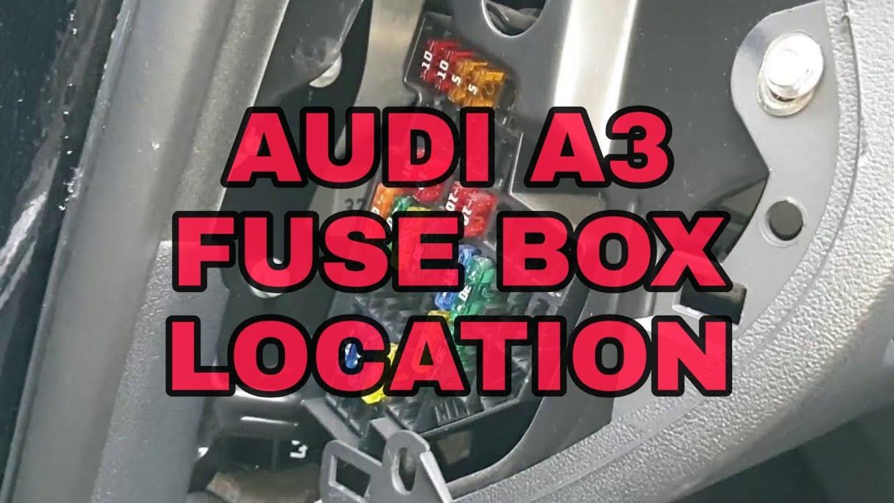 🚗👨🔧 audi a3 fuse box location - youtube  youtube