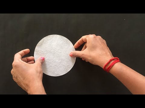 Filter Paper Experiment = How To Fold Filter Paper In Different  Way = Fluted Filter Paper (HINDI)