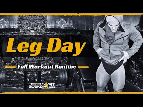 Leg Day, Full Workout Routine - Jeremy Buendia Fitness