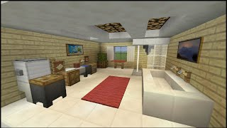 Minecraft Tutorial: How To Make A BathRoom