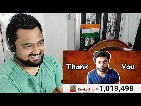 Indian Reacts to Ducky Bhai | 1 MILLION SUBSCRIBERS (GONE EMOTIONAL)