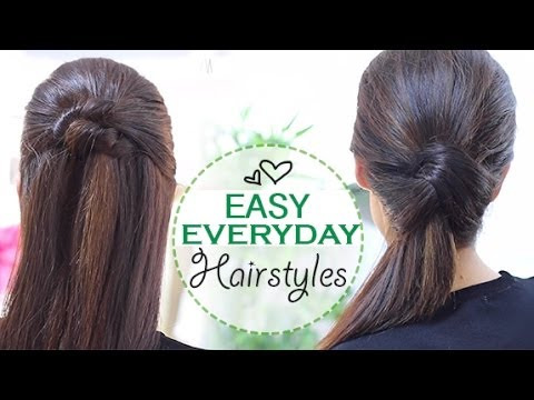 easy quick hair styles easy everyday hairstyles 8613 | hqdefault