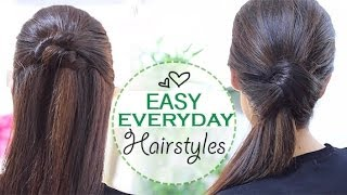 Repeat youtube video Easy everyday hairstyles
