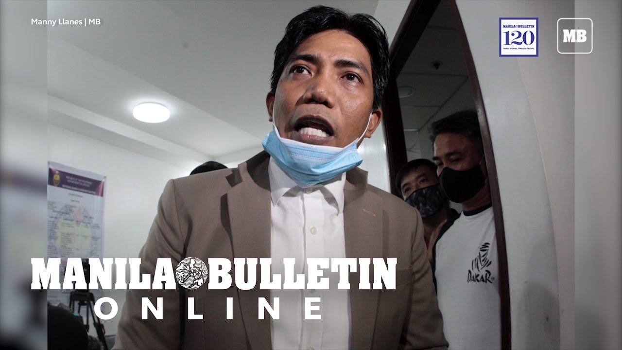 Francis Leo Marcos speaks to the media after an arrest warrant was served against him