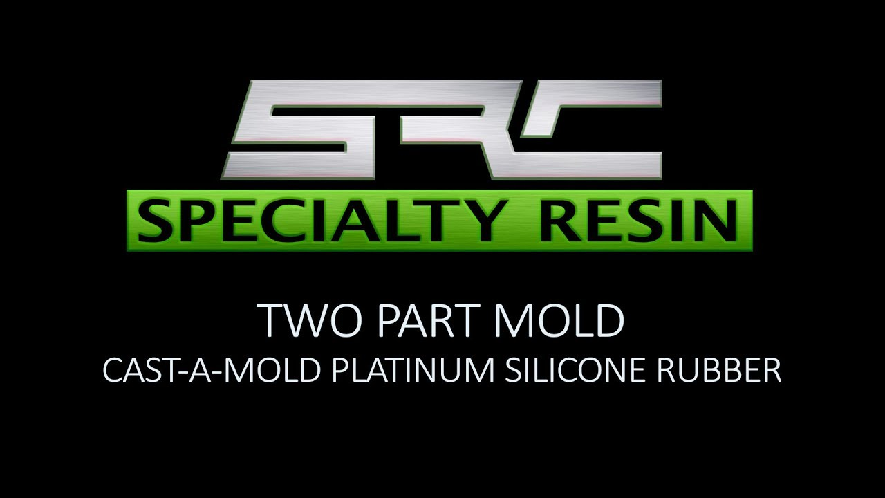 Two part mold using platinum silicone rubber