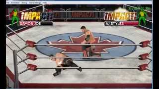 TNA Impact - Cross the Line PSP gameplay on my PC