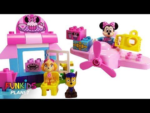 Paw Patrol Play with Disney Minnie Mouse Cafe Lego Duplo Airplane
