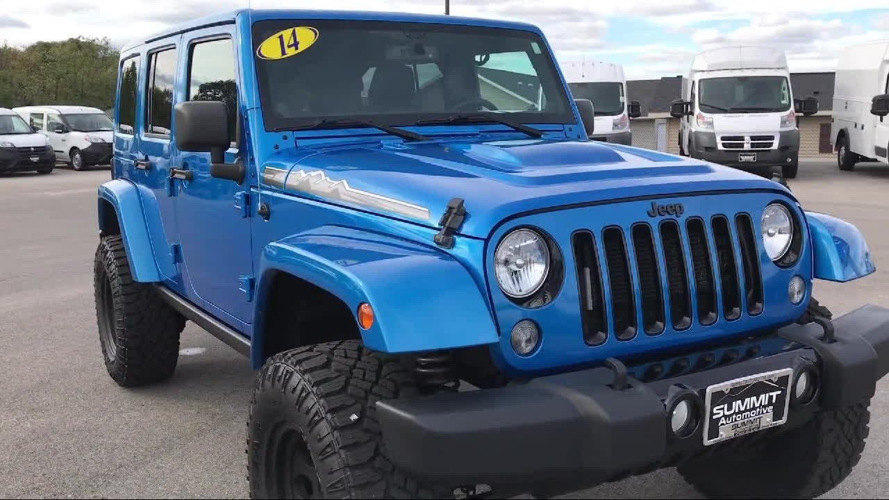 2014 jeep wrangler 4x4 unlimited polar edition hydro blue. Black Bedroom Furniture Sets. Home Design Ideas