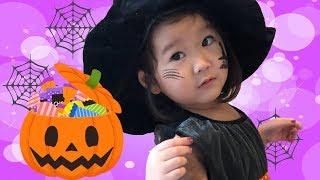 ハロウィンメイクをして宝探し!魔女さんごっこ Halloween Kids Makeup