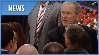 Bush family thank well-wishers at George H.W's casket
