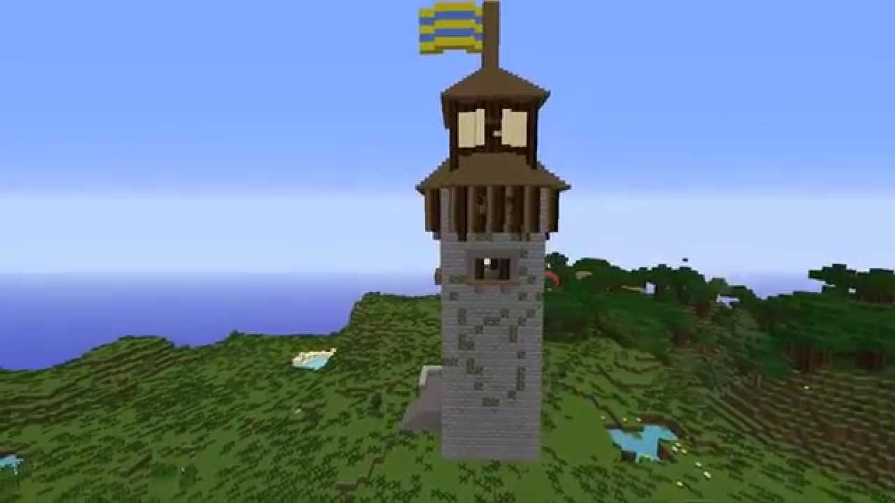 Minecraft / Medieval Castle Tower - YouTube