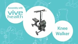 Knee Walker by Vive Assembly Instructions - Alternative to Crutches - Best Knee Scooter