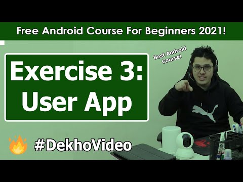 Android Exercise 3: Creating a User Display App | Android Tutorials in Hindi #21 thumbnail