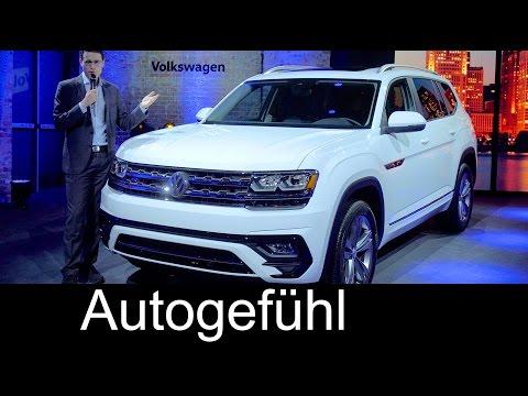 Volkswagen Atlas R-Line Premiere review VW Teramont SUV NAIAS Detroit new - Autogefühl