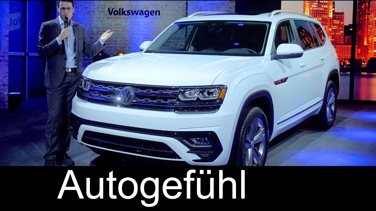 Volkswagen Atlas R-Line Premiere review VW Teramont SUV NAIAS Detroit new - Autogefühl - YouTube