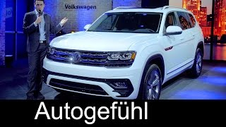 Volkswagen Atlas R-Line Premiere review VW Teramont SUV NAIAS Detroit new - Autogefühl