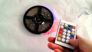 5m 5050 flexible rgb led strip light christmas kit with 24 keys controller and transformer