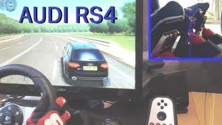 Audi RS4 - City Car Driving 1.2.5 (3D Instructor), Logitech G27, feet / clutch, fully manual, 1080p