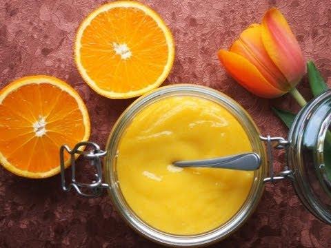 Crema all' arancia senza uova e senza latte,FATTA in CASA ...
