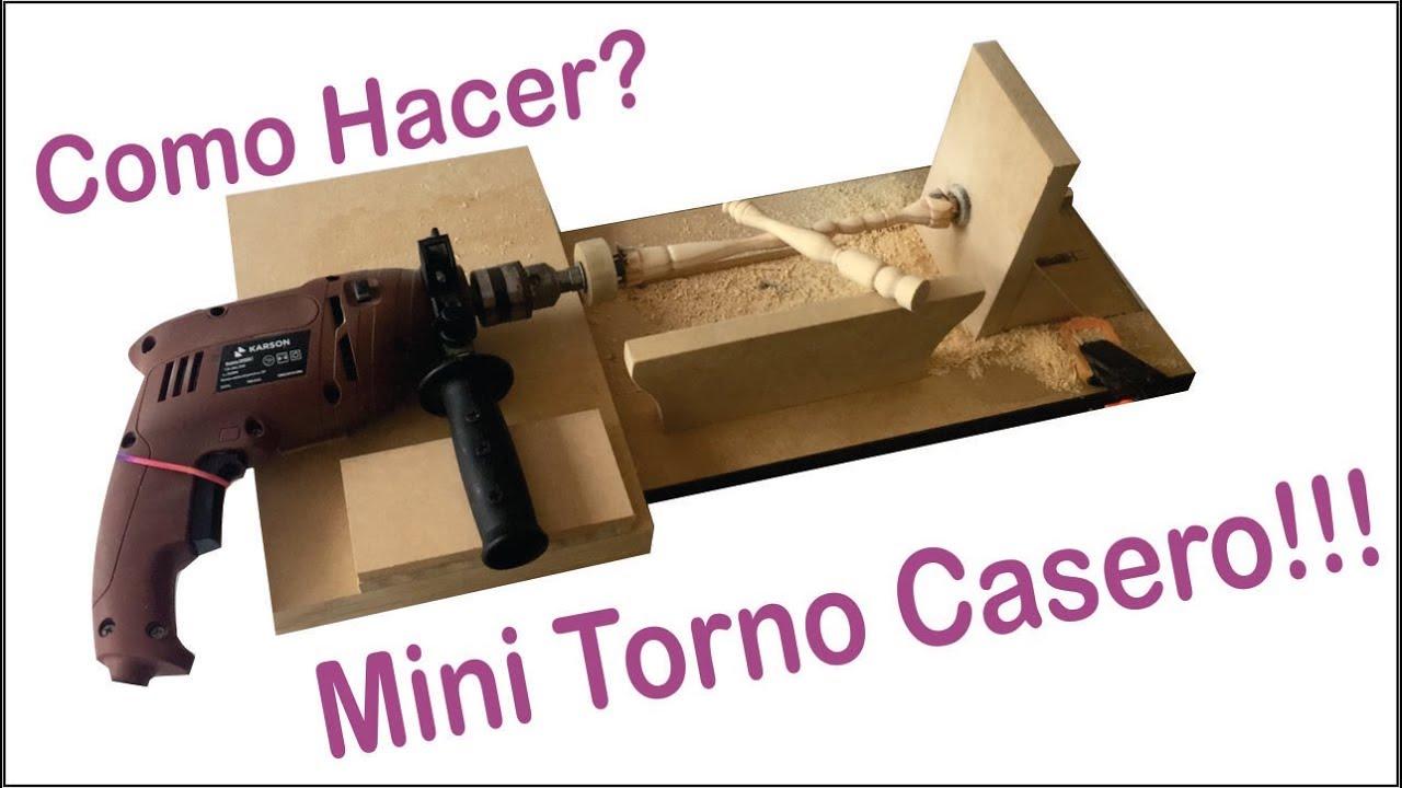 Hacer torno casero mini con un taladro youtube - Como construir un terrario ...