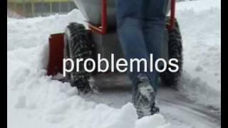 TeMax Elektro Mini Dumper Schneeschild Schnee Räumen.wmv