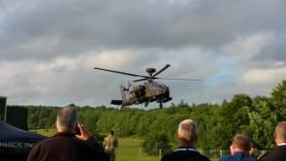 Goodwood Festival of Speed 2016 - Apache Gunship Landing