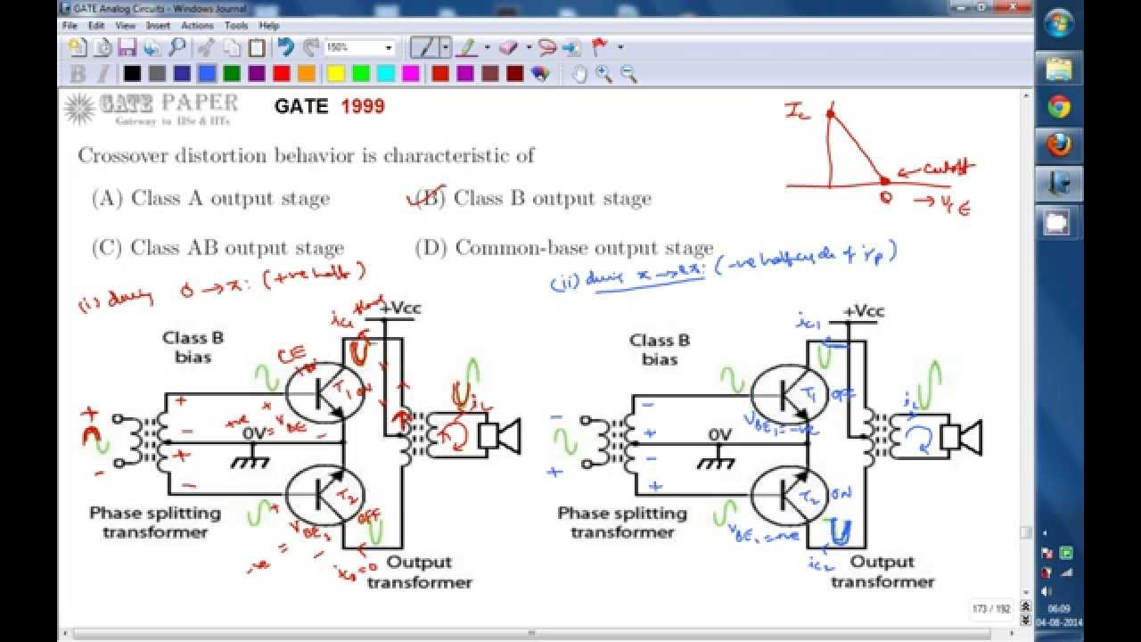 Gate 1999 Ece Crossover Distorsion Behaviour Is Characteristic Of Regulated Power Supply Using 741 And 2n3055 Class B Amplifier