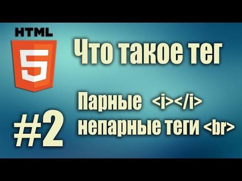 HTML что такое тег. Парные, непарные теги. Тег I. Тег Br. HTML5 для начинающих. Урок#2