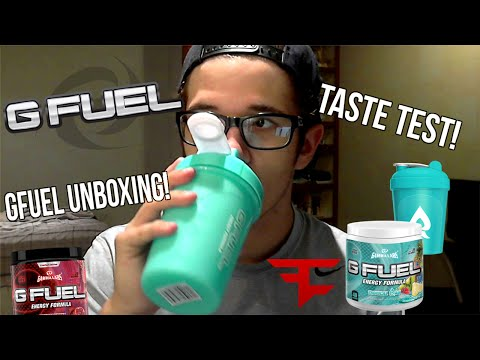 GFuel Unboxing! TASTE TEST! (Trying Tropical Rain)