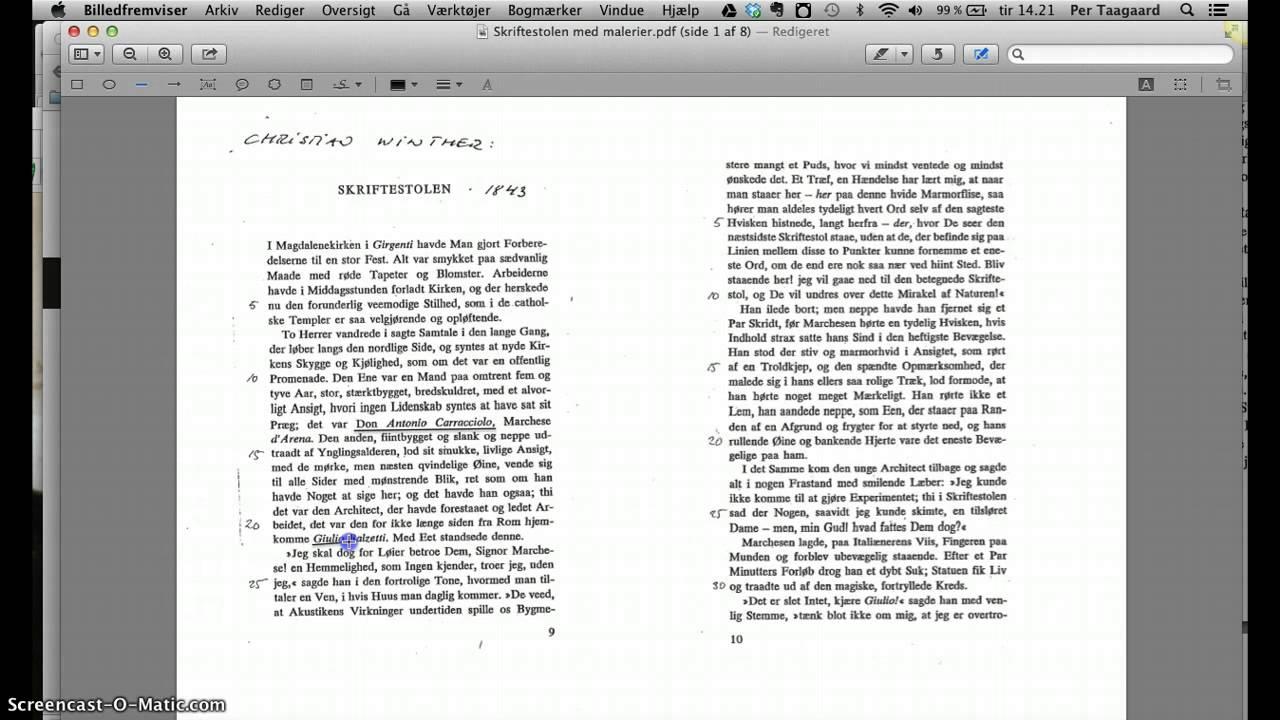 Noter i PDF Mac