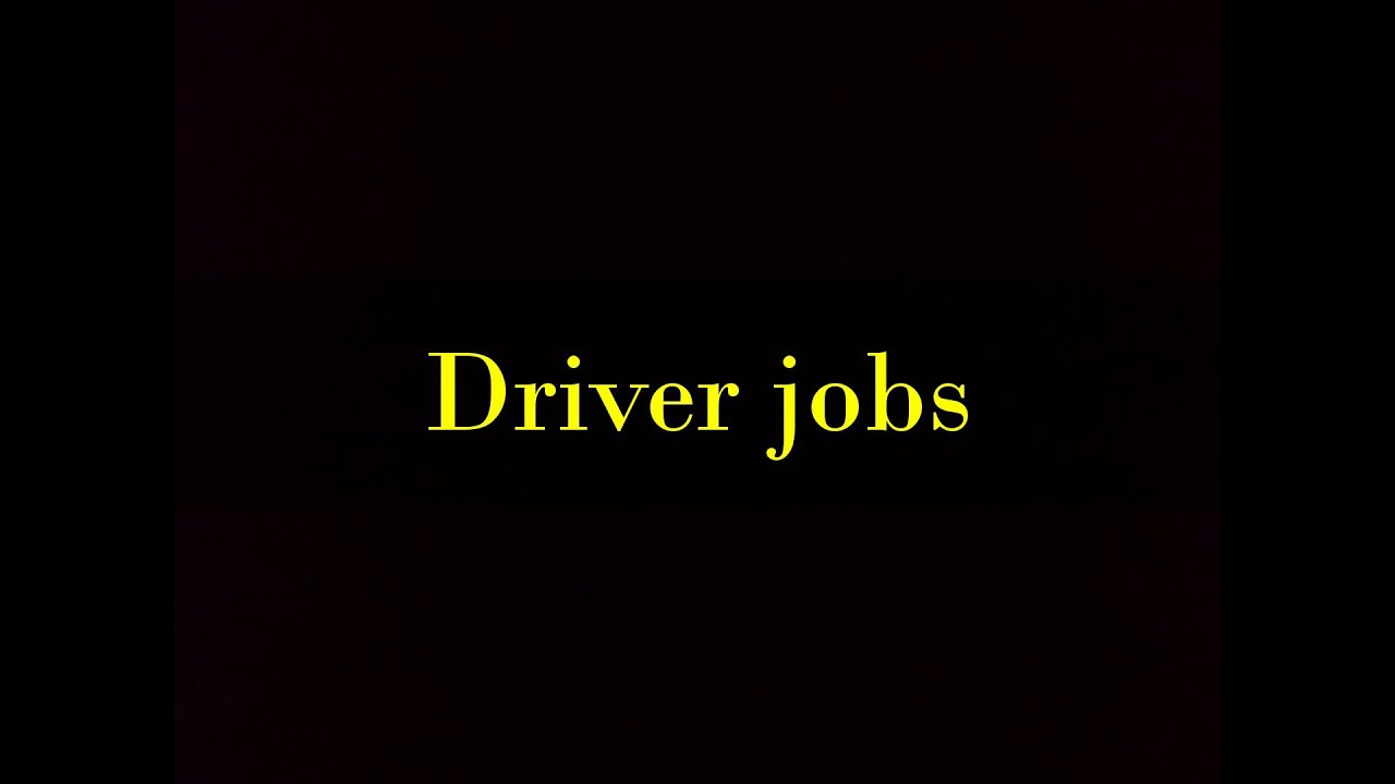 Driving Jobs Nyc >> Driver Jobs In New York Youtube
