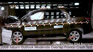 2007-2016 Saturn Outlook / GMC Acadia Moderate Overlap Crash Test (35 Mph - R94 Offset Barrier)