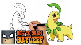 How to Draw Bayleef | Pokemon
