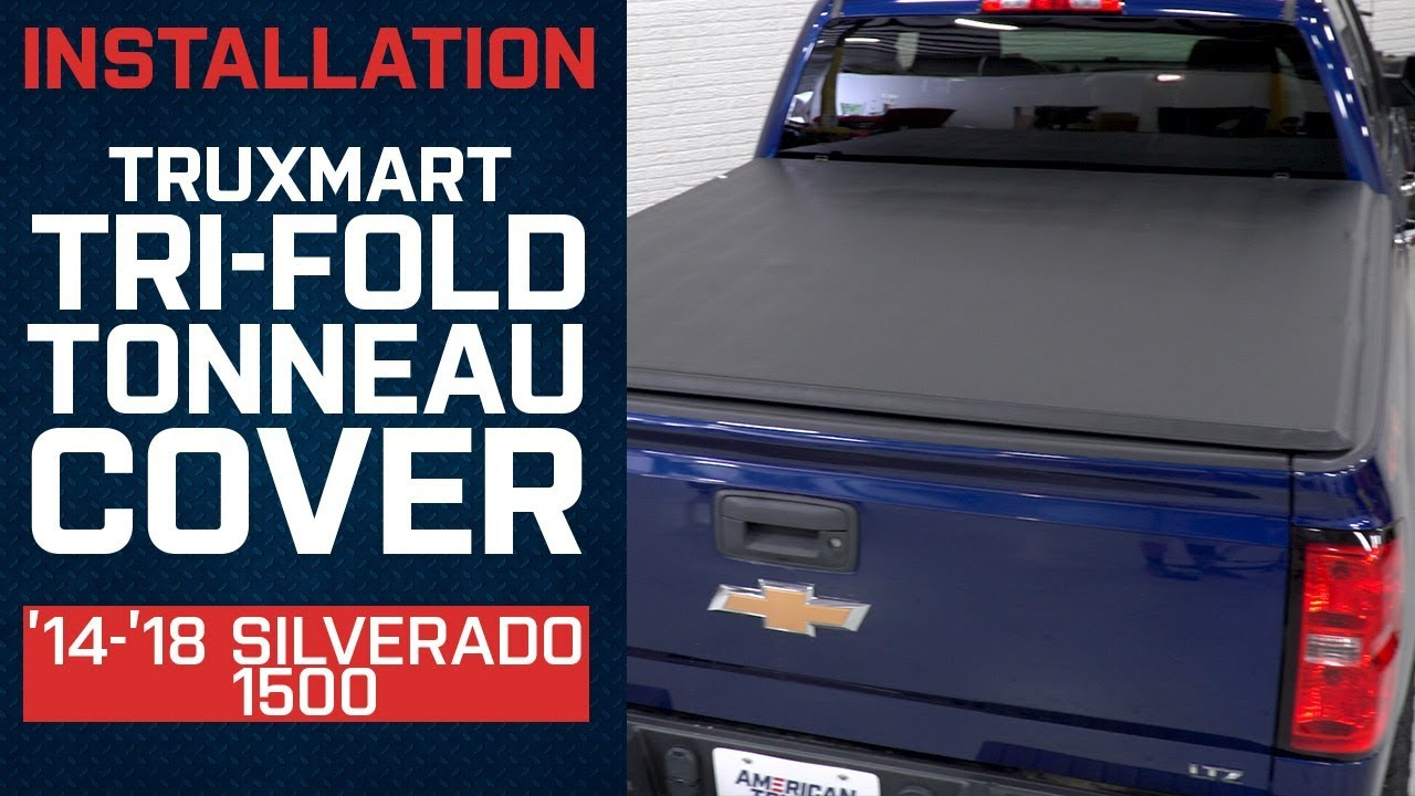 Install 2014 2018 Silverado Truxmart Tri Fold Tonneau Cover Youtube