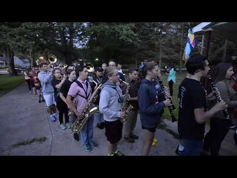 Erie-area man gets pranked by a marching band in his house