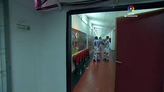 Calentamiento RCD Mallorca vs Real Sociedad