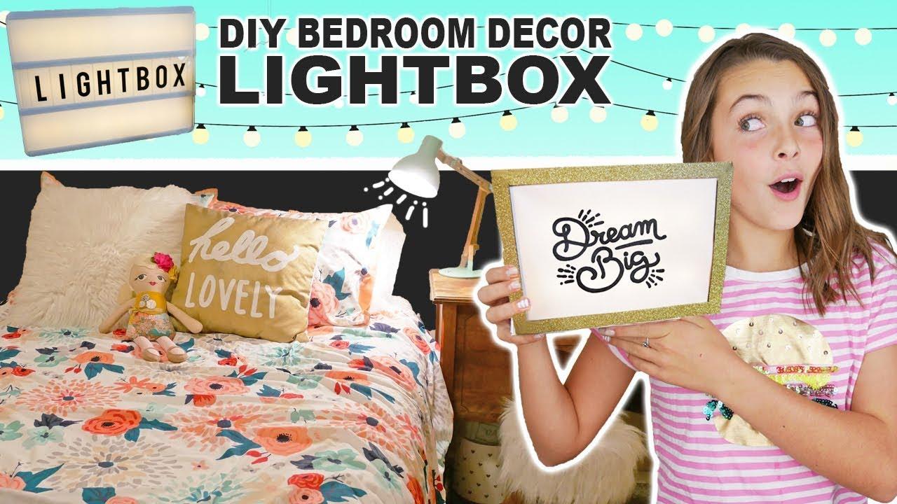 How To Make DIY Light Box  Room Decor Ideas For Teens