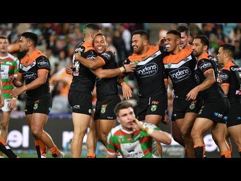 NRL Highlights: Wests Tigers v South Sydney Rabbitohs – Round 19