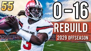 BACK-TO-BACK CHAMPS TAKE ON THE OFFSEASON! (2029) - Madden 18 Browns 0-16 Rebuild | Ep.55