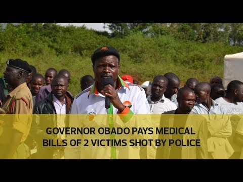 Governor Obado pays medical bills of 2 victims shot by police