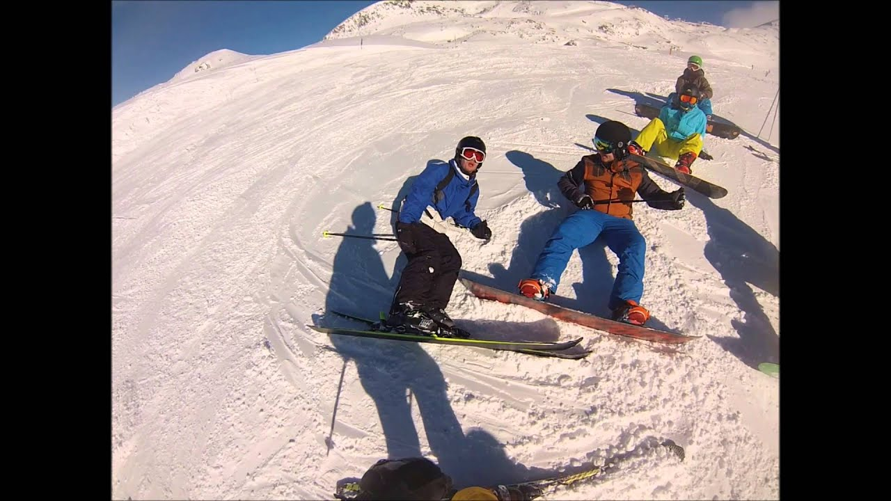 Nina & ben skiing 2016