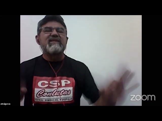 Atnágoras Lopes - CSP - COnlutas na plenária do Polo Socialista e Revolucionário