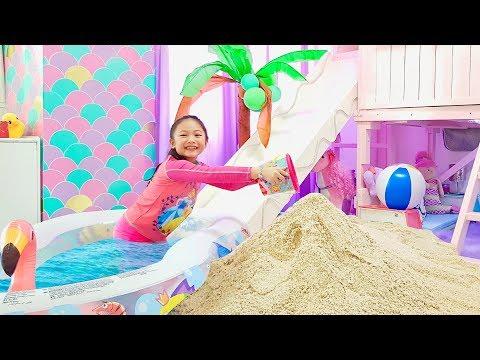 Bug Transform her Room into A Beach