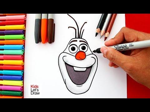 Aprende a dibujar y pintar a OLAF de Frozen | Learn to Draw Olaf the Snowman