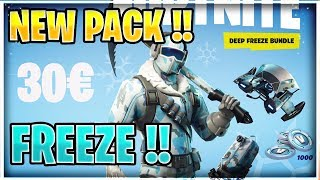 NEW PACK ON FORTNITE BATTLE ROYALE! Eternal Cold Pack!