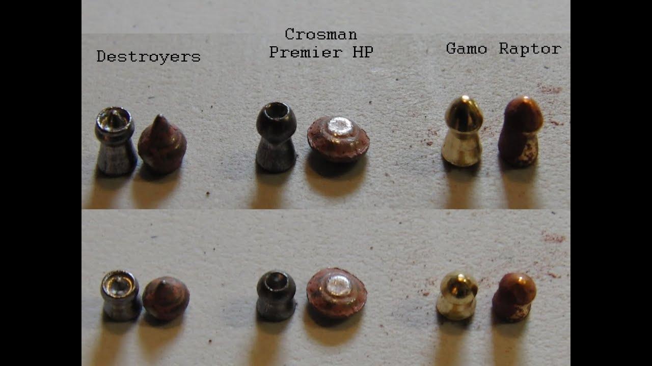 Airgun Pellet Expansion Test In Clay Crosman Premier H