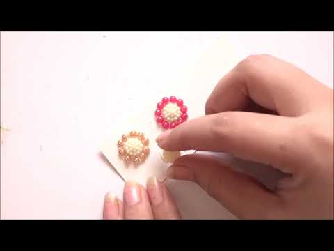 5Min DIY Earrings - easy and quick pearl earrings | How to make paper earrings - Art with HHS